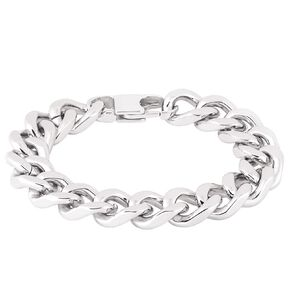 Stainless Steel Chunky Curb Bracelet 20cm