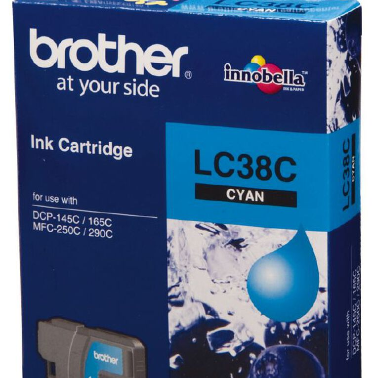 Brother Ink LC38 Cyan (260 Pages), , hi-res