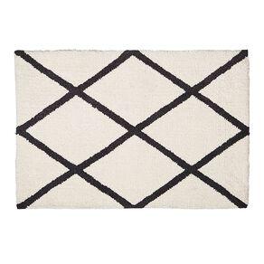 Living & Co Berber Scatter Rug White/Black 60cm x 90cm