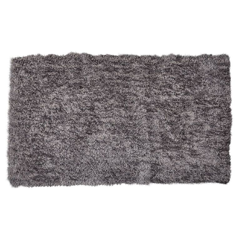 Living & Co Brooklyn Small Rug Silver 70cm x 120cm, Silver, hi-res image number null