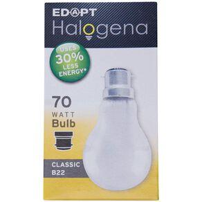 Edapt Halogena B22 Classic Light Bulb 70w