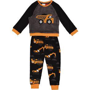 H&H Coral Fleece Truck Twosie Pyjamas