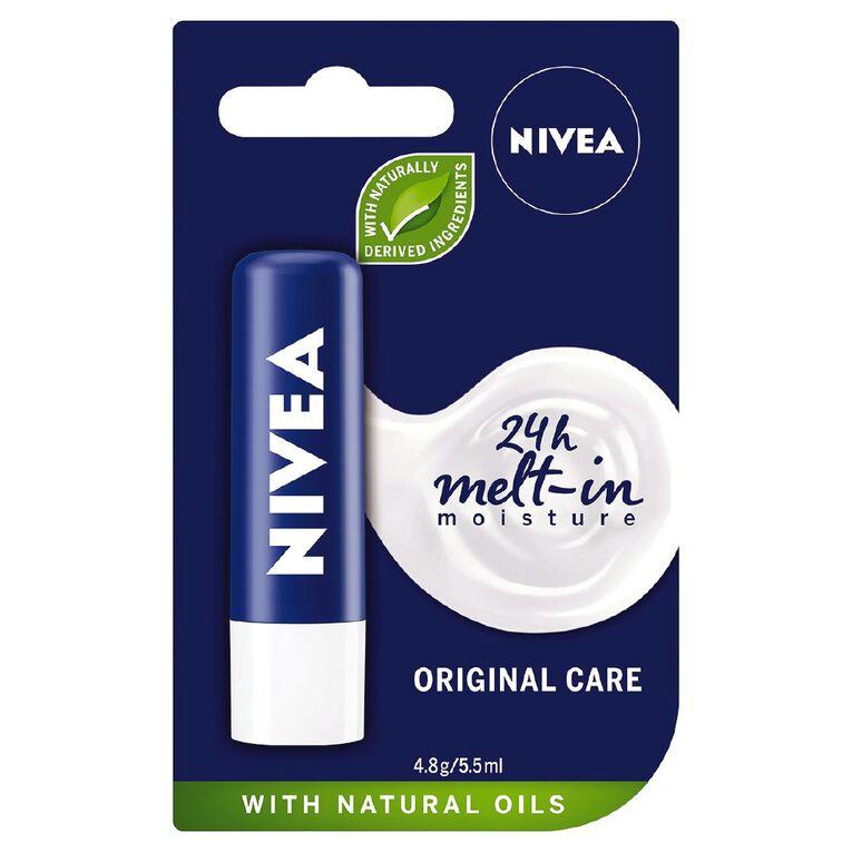 Nivea Care Original Lip Balm 4.8g, , hi-res