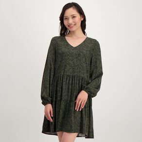 H&H Women's Tiered Print Dress