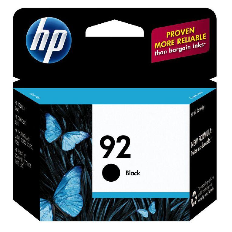 HP Ink 92 Black (220 Pages), , hi-res
