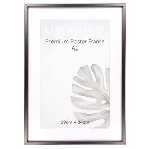 Living & Co Premium Poster Frame Black A1