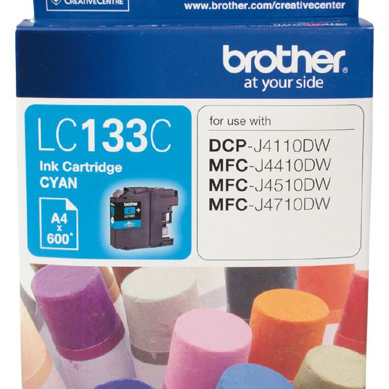 Brother Ink LC133 Cyan (600 Pages), , hi-res
