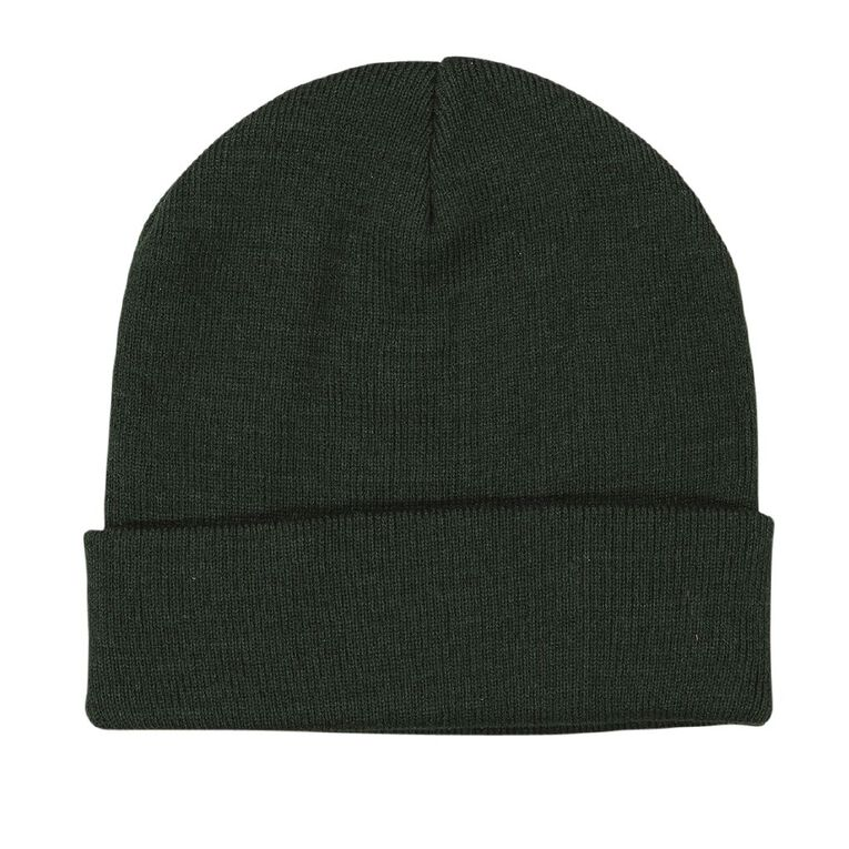 H&H Essentials Entry Turn Up Beanies, Green, hi-res