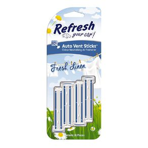 Refresh Your Car Vent Stick Fresh Linen 4 Pack