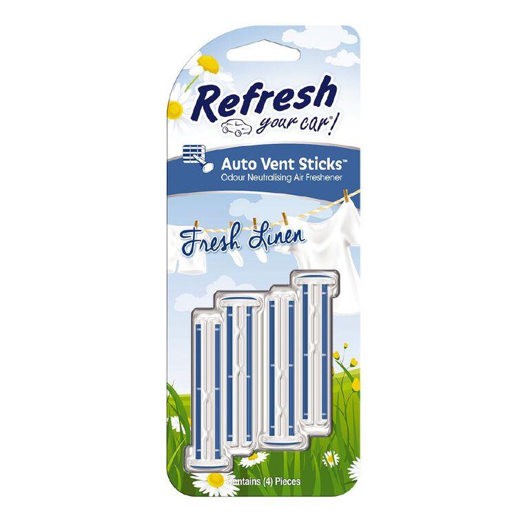 Refresh Your Car Vent Stick Fresh Linen 4 Pack, , hi-res