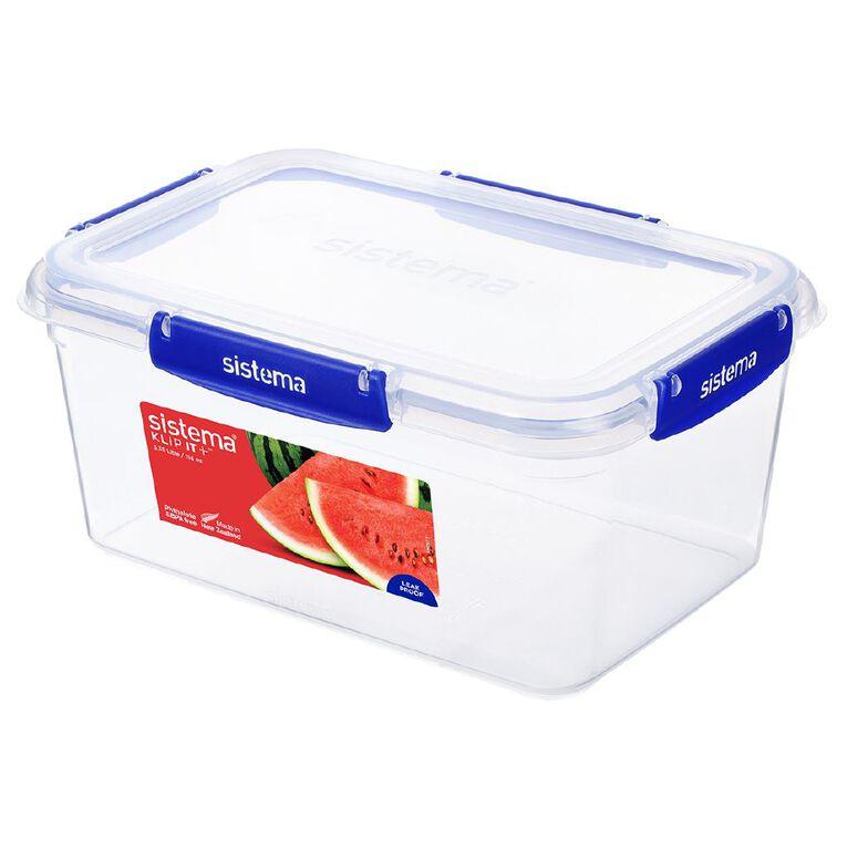 Sistema Klip It Plus Rectangular Container Blue 3.35L, , hi-res