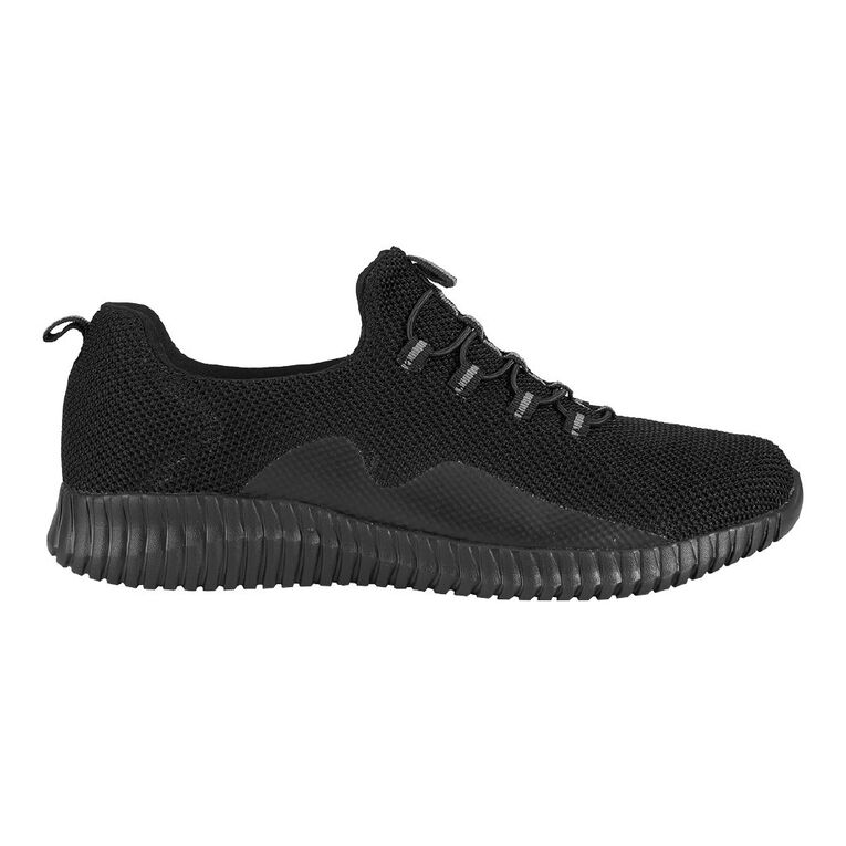 Active Intent Bungee Trainers, Black, hi-res