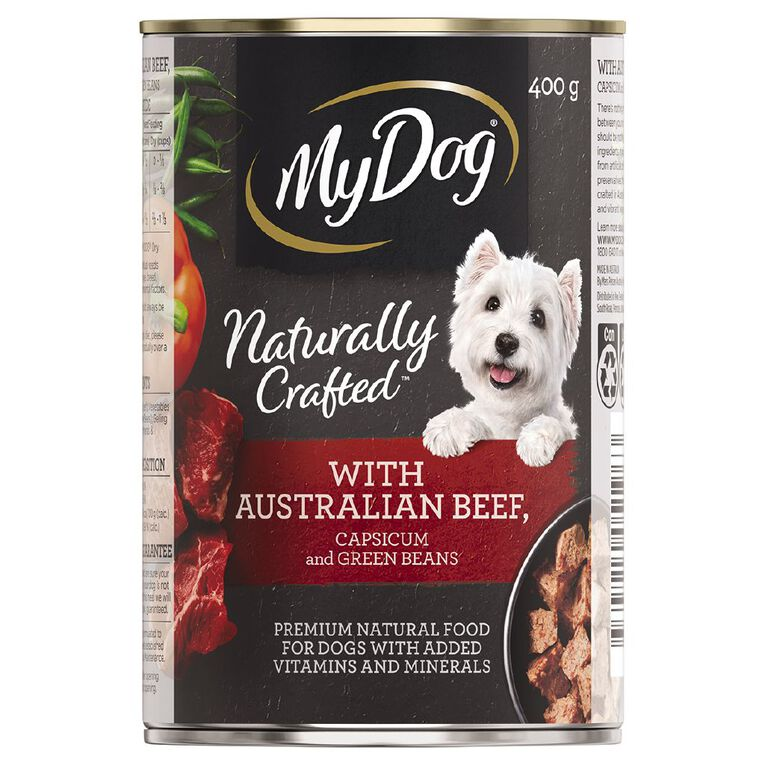 My Dog Natural with Australian Beef with Capsicum & Green Beans 400g, , hi-res