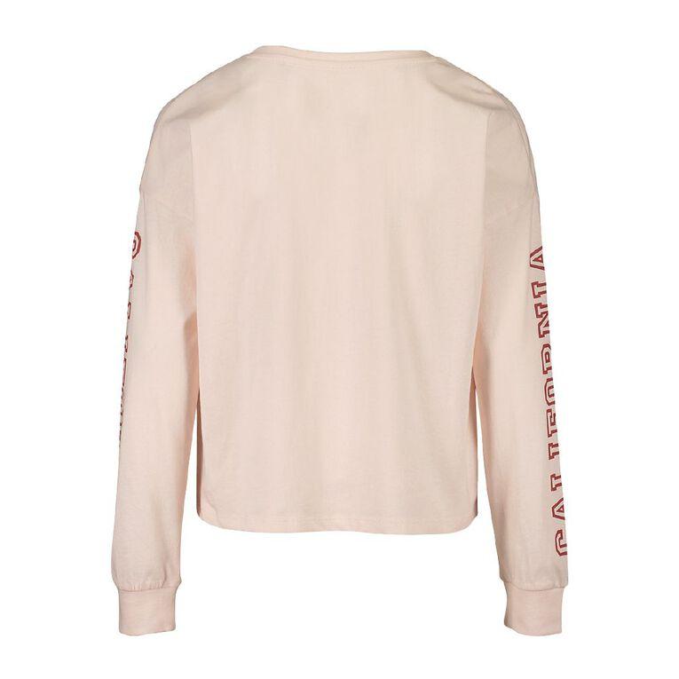 Young Original Long Sleeve Crop Tee, Pink Light, hi-res