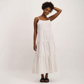 H&H Women's Seersucker Tiered Dress