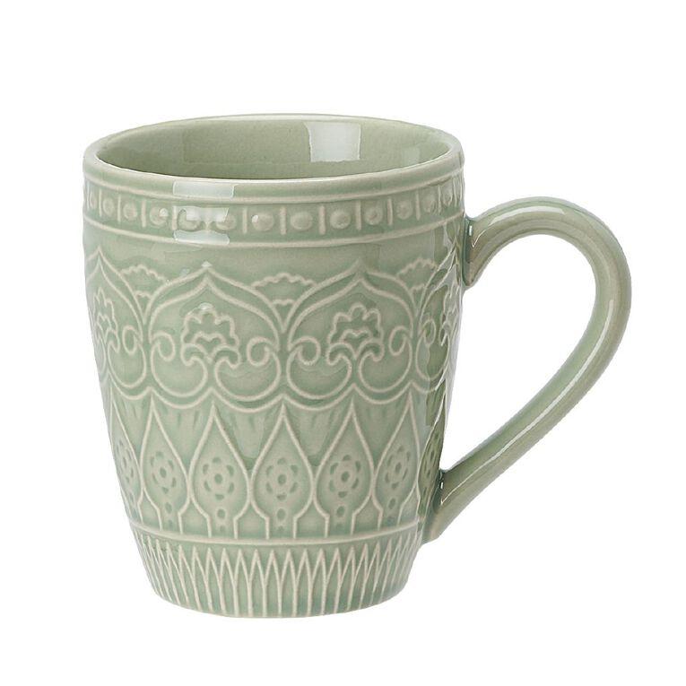 Living & Co Glazed Moroccan Mug Sage Green, , hi-res