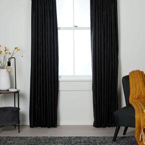 Living & Co Swirl Curtains Black