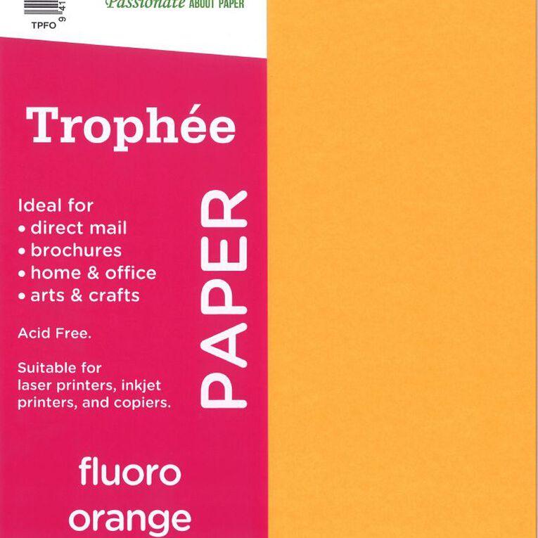 Trophee Paper 80gsm 30 Pack Fluoro Orange Orange A4, , hi-res