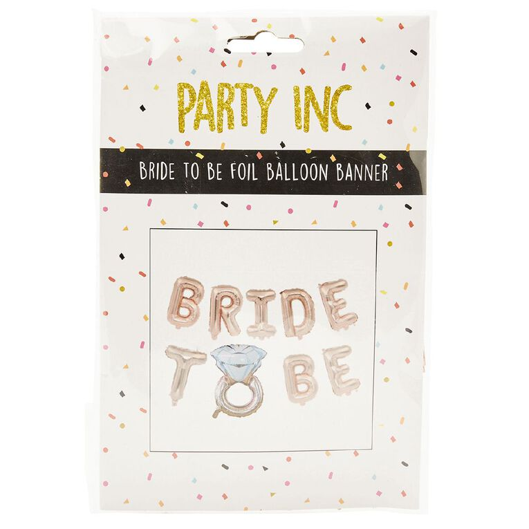 Party Inc Bride To Be Foil Balloon Banner, , hi-res