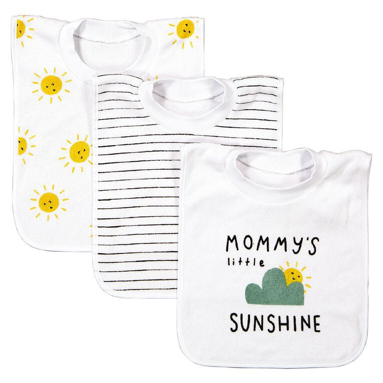 Young Original Baby 3 Pack Pullover Bibs, Blue Light, hi-res