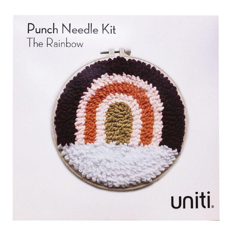 Uniti Punch Needle Kit The Rainbow, , hi-res