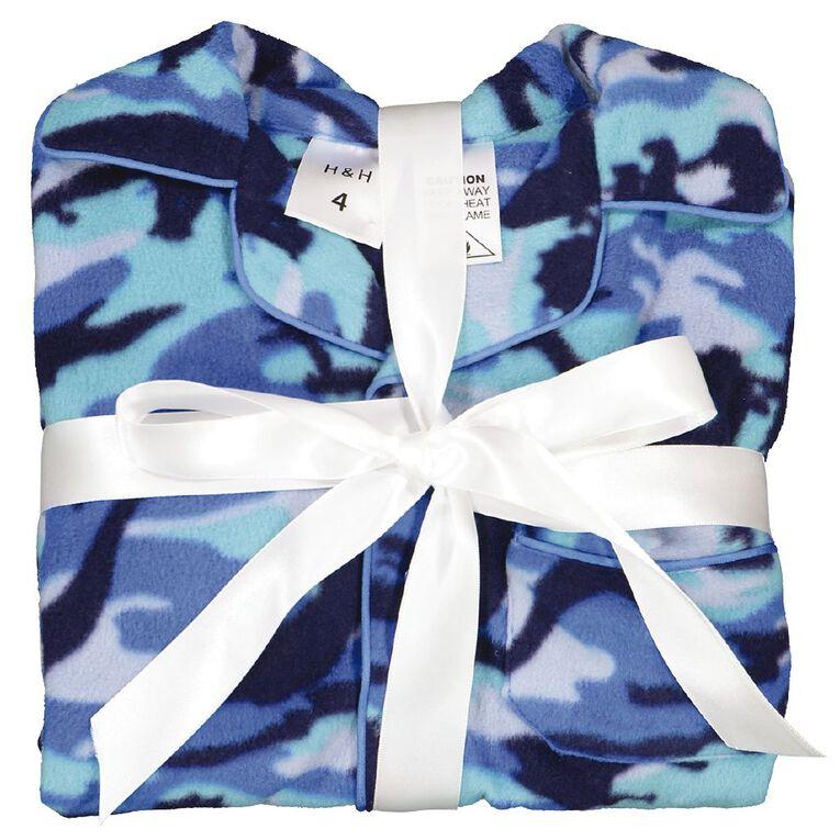 H&H Boys' Fleece Pyjamas, Blue, hi-res