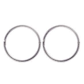 Sterling Silver Plain Sleeper Earrings 16mm