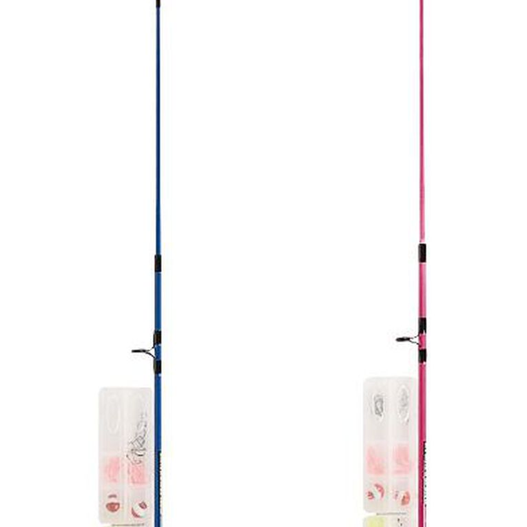 Maxistrike Kids' Combo 5ft 2 Piece Rod with Tackle Kit Assorted, , hi-res