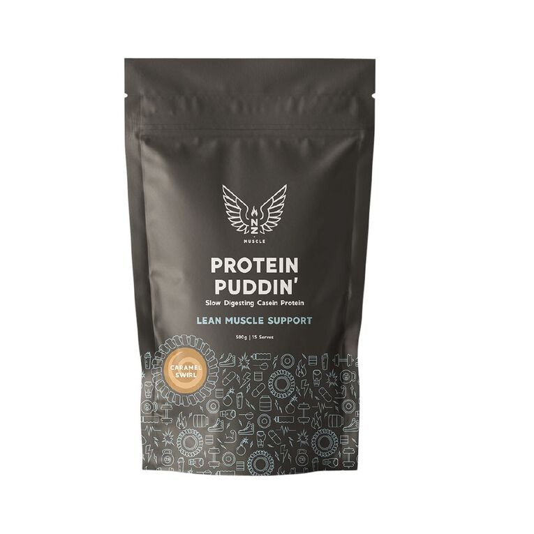 NZ Muscle Protein Puddin Caramel Swirl 500g, , hi-res