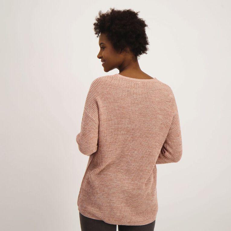 H&H Women's Oversized Waffle Knit, Pink Light, hi-res