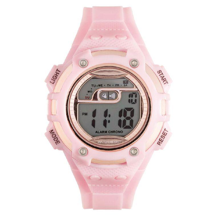 Active Intent Women's Sports Digital Watch Pink Rose Gold, , hi-res