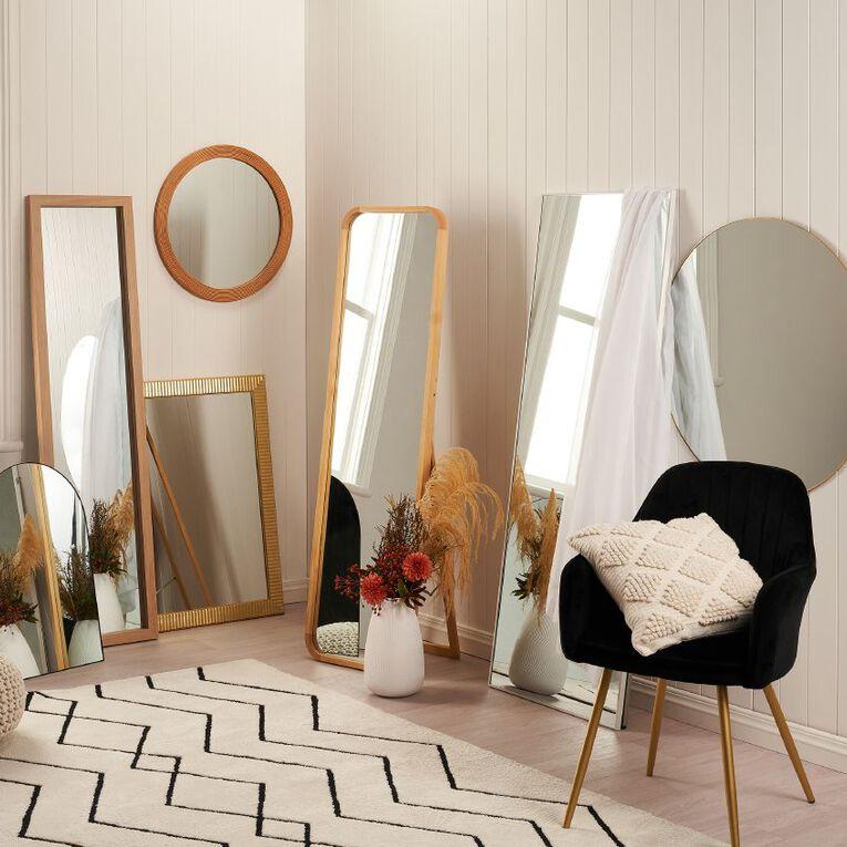 Living & Co Boden Easel Mirror 45cm x 4cm 7 x 156cm Natural, , hi-res