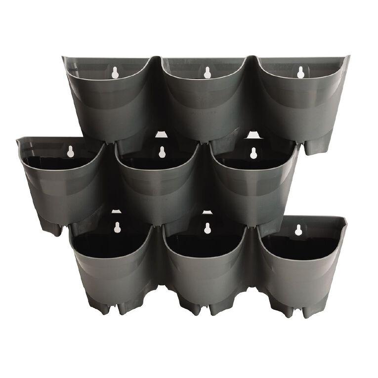 Kiwi Garden Plastic Wall Planter 3 Pot 3 Pack, , hi-res