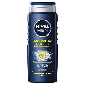 Nivea Men Shower Gel Power Fresh 500ml