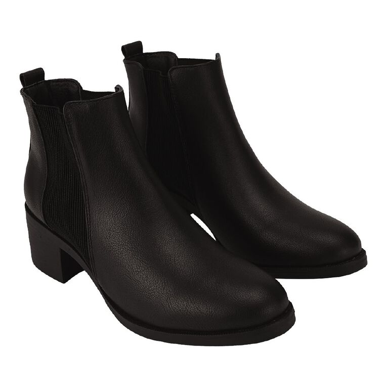 H&H Women's Pull On Boots, Black, hi-res