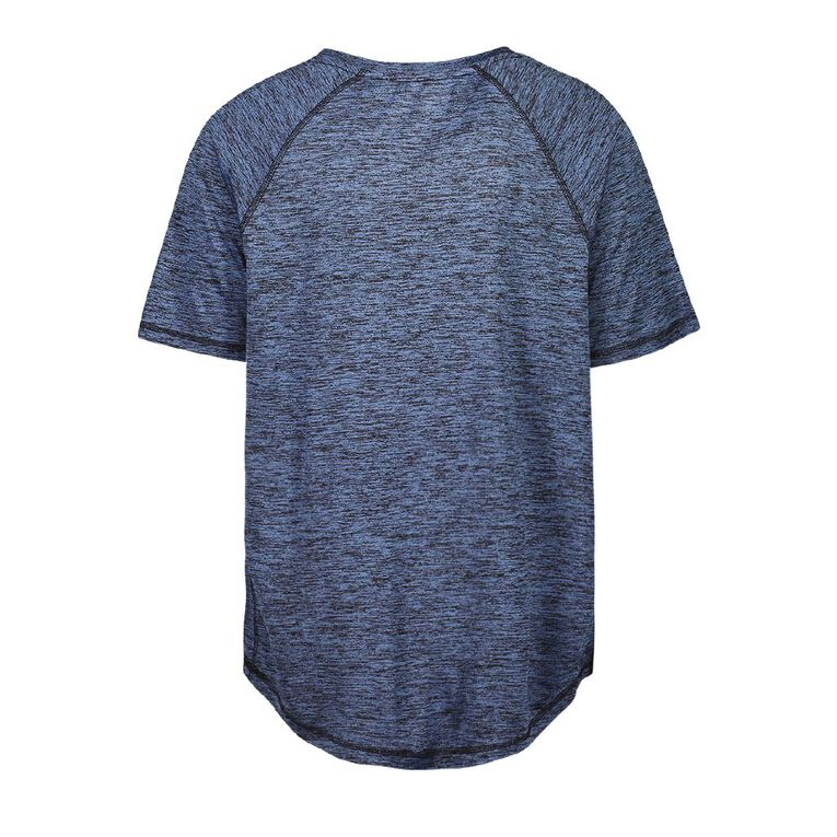 Active Intent Men's Scoop Hem Short Sleeve Tee, Blue Mid, hi-res