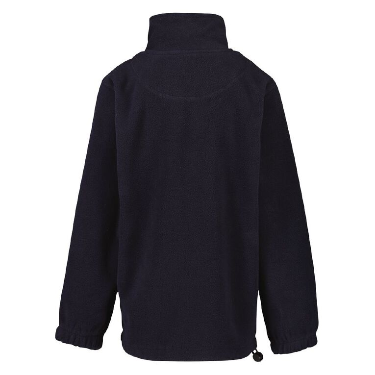 Schooltex Pukekohe Hill New Polar Fleece Top with Embroidery, Navy, hi-res