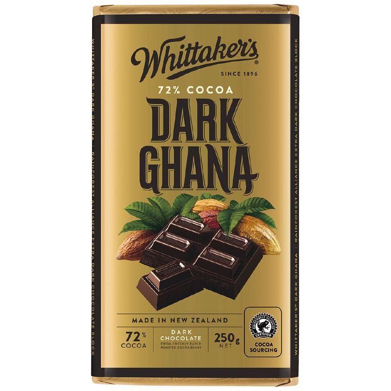 Whittaker's 72% Ghana Block 250g, , hi-res