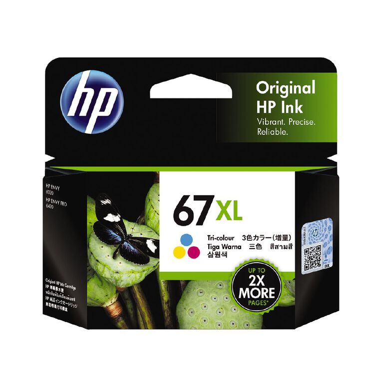 HP Ink 67XL Tri Colour (200 Pages), , hi-res