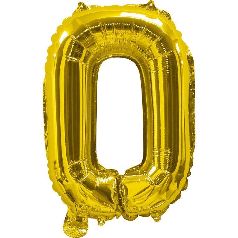 Artwrap Foil Balloon O Gold 35cm, , hi-res