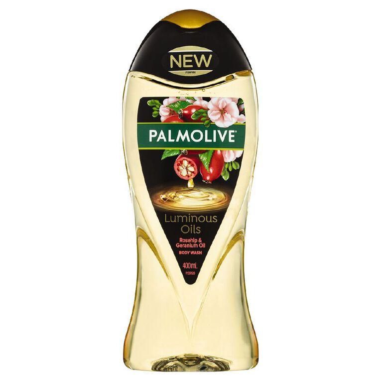 Palmolive Rosehip & Geranium Oil Luminous Oils Shower Gel 400ml, , hi-res