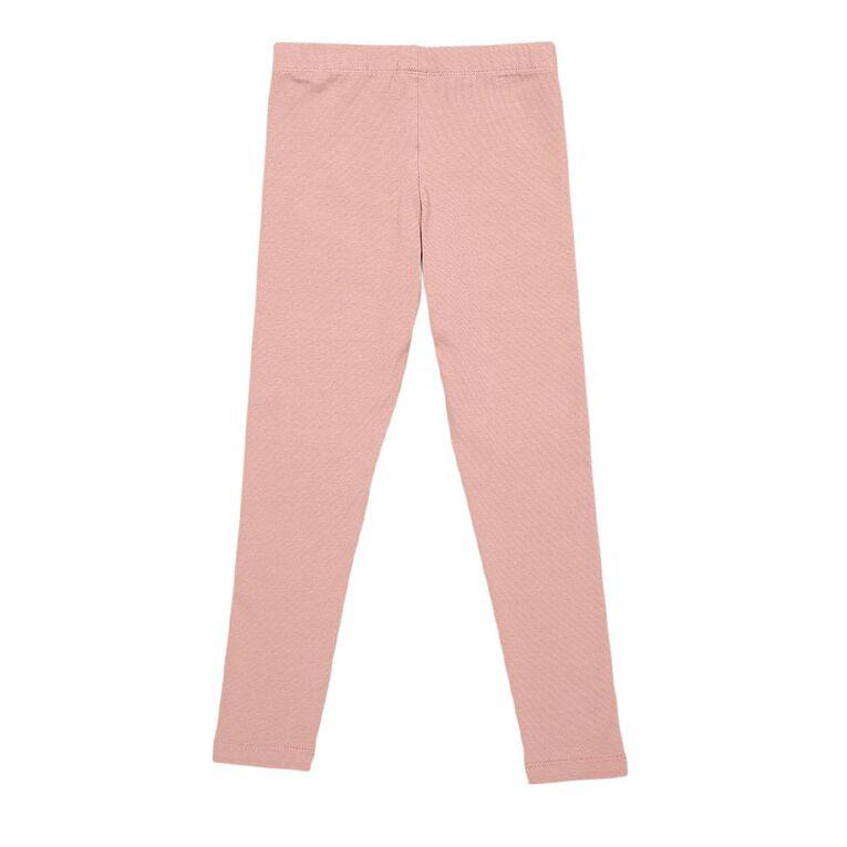 Young Original Girls' 7/8 Plain Leggings, Pink Dark, hi-res
