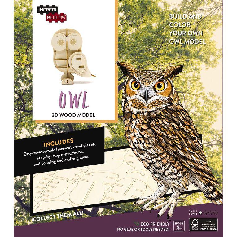 Incredibuilds Owl 3D Wooden Model, , hi-res image number null