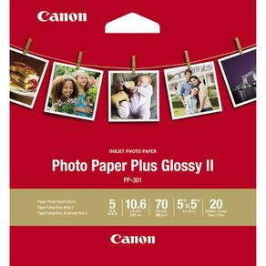 Canon Photo Paper Glossy Photo II 265gsm SQ5IN 20 Pack