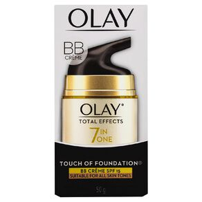 Olay Total Effects Touch of Foundation Moisturiser 50g