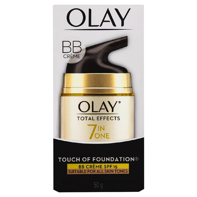 Olay Total Effects Touch of Foundation Moisturiser 50g, , hi-res