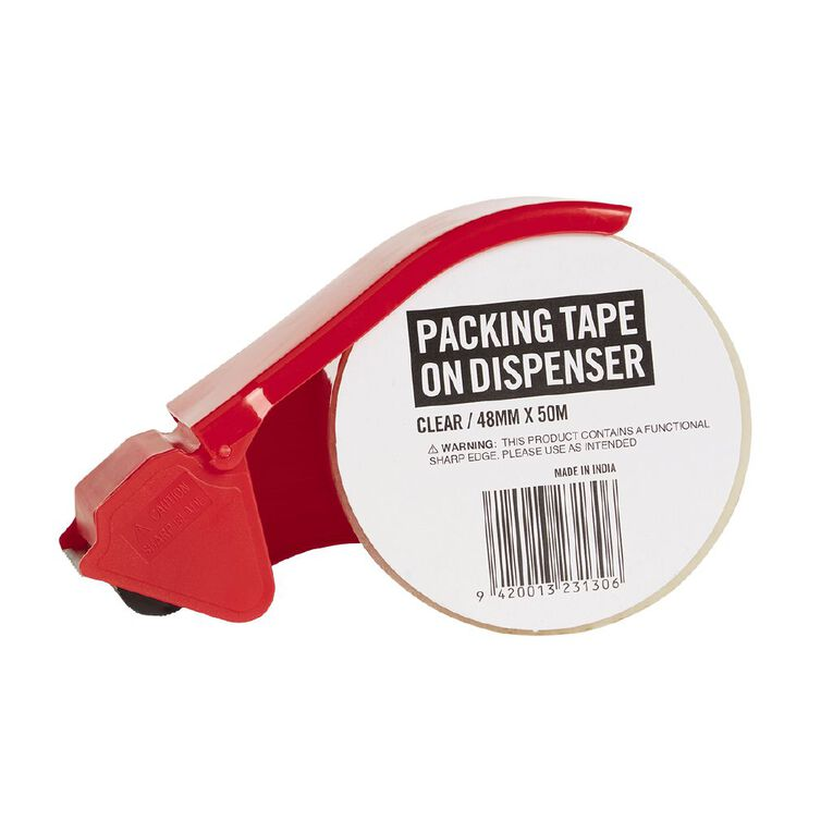 No Brand Clear Packing Tape On Dispenser 48mm  x  50m, , hi-res