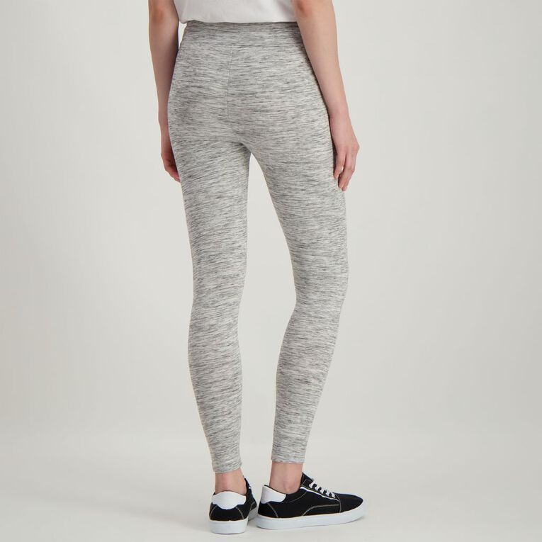 H&H Women's Brushed Leggings, Grey Marle, hi-res