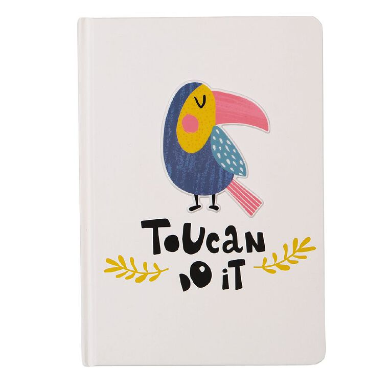 Uniti Fun & Funky Q4 Hardcover Notebook Toucan Do It White A5, , hi-res