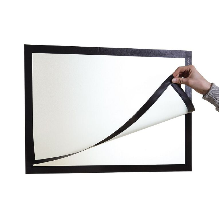 DURAFRAME Self Adhesive Sign 1 Pack Black A3, , hi-res